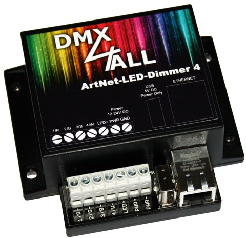 DMX4ALL | ArtNet-LED-Dimmer 4 / 4R | egnite Shop