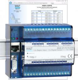 W&T - Web-IO 4.0 Digital, 12x Input / 12x Output