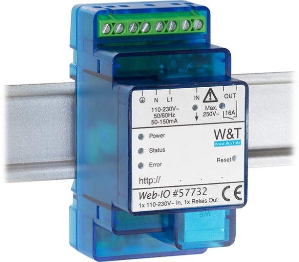Web-IO 4.0 Digital, 1x 230V In, 1x Relay Out