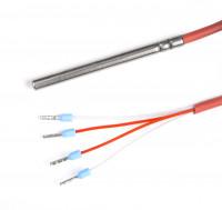 Kabeltemperaturfühler Pt100 A, -80 bis 200 °C, 4 Leiter, 1 m