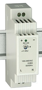 W&T - Power Supply 24 V DC, 630 mA, for DIN rail mounting