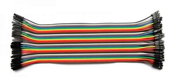Jumper Wire, Bu/Bu, 20 cm, 40 Stk.