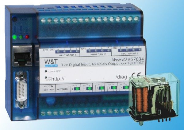 W&T | Web-IO 12 x Digital Input / 12 x Digital Relais | egnite Shop