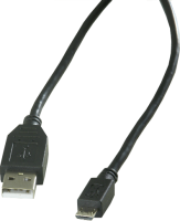 USB 2.0 cable, A to Micro B, 2 m