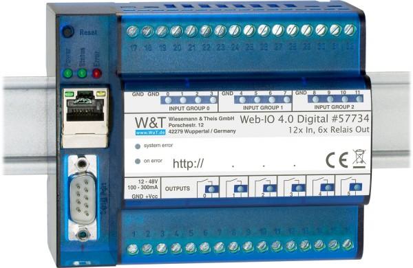 Web-IO 4.0 Digital, 12xIn, 6xRelais Out