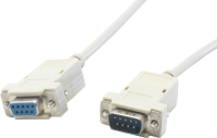 Serial cable, m/f, 9 pin, 2 m
